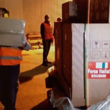 Nuovo cargo dalla Cina: arrivati a Palermo DIP, ventilatori polmonari e materiale tecnologico