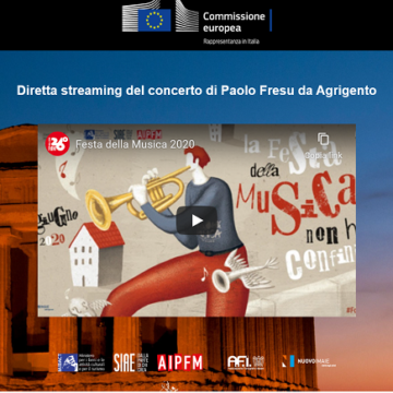 Valle dei Templi, 21 giugno Festa della Musica. In diretta streaming il concerto di Paolo Fresu