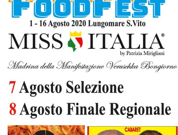 Al via dal 1 agosto Mazara Food Fest 2020, il Festival del cibo del Mediterraneo. Tra gli appuntamenti: la finale di Miss Italia