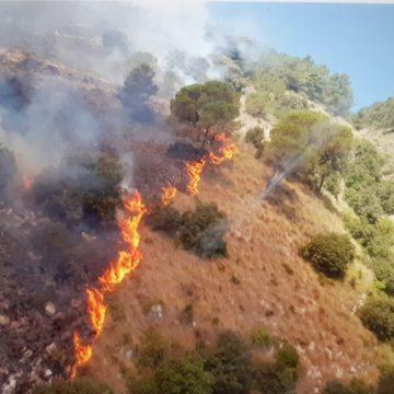 Incendi: fiamme su  Macari e Montagna Grande in provincia di Trapani
