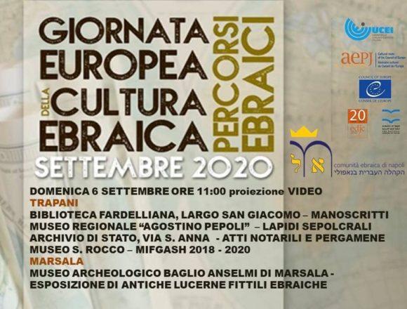 Trapani e Marsala partecipano alla Giornata Europea della Cultura Ebraica