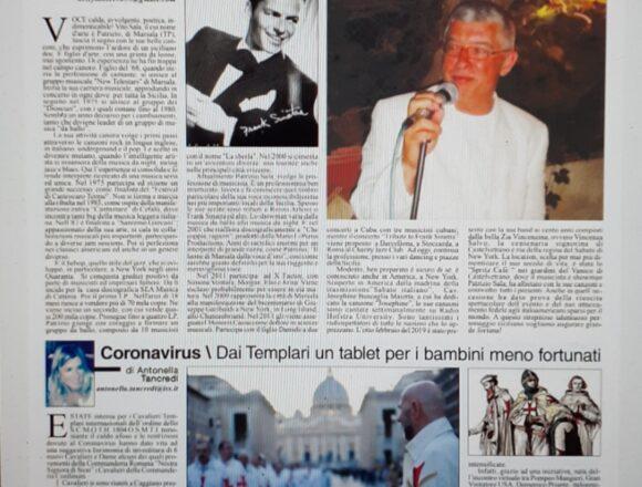 """Cresce a New York il successo del cantante marsalese Patrizio Sala. Il quotidiano """"America Oggi"""" gli dedica un bellissimo articolo a firma di Ketty Millecro. """"Ho attraversato l'oceano diverse volte per portare un pò di sicilianità agli amici italo-americani"""""""
