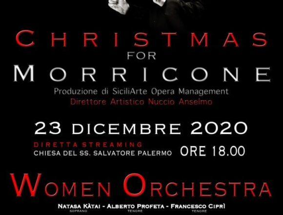 """Oggi 23 dicembre """"Christmas for Morricone """": la Women Orchestra in diretta streaming per uno speciale concerto di Natale"""
