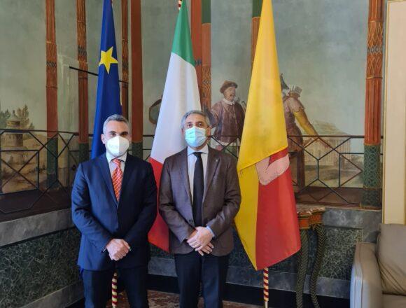 Il presidente del consiglio Sturiano incontra a Palermo il neo assessore all'Agricoltura Tony Scilla per formulare gli auguri di buon lavoro