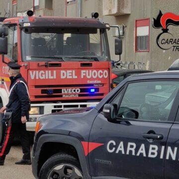 Petrosino: incendio in un'abitazione popolare. Carabinieri e Vigili del Fuoco mettono al sicuro due bambini