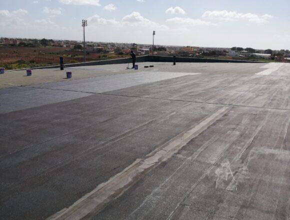 Petrosino, in corso i lavori di impermeabilizzazione del tetto del Palazzetto dello Sport