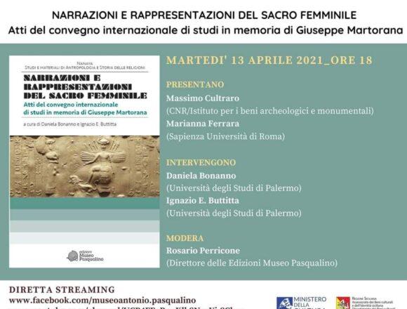 """""""Narrazioni e rappresentazioni del sacro femminile"""", domani la presentazione degli atti del convegno in memoria di Giuseppe Martorana"""