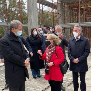Gela, Musumeci in visita al cantiere del Museo della nave