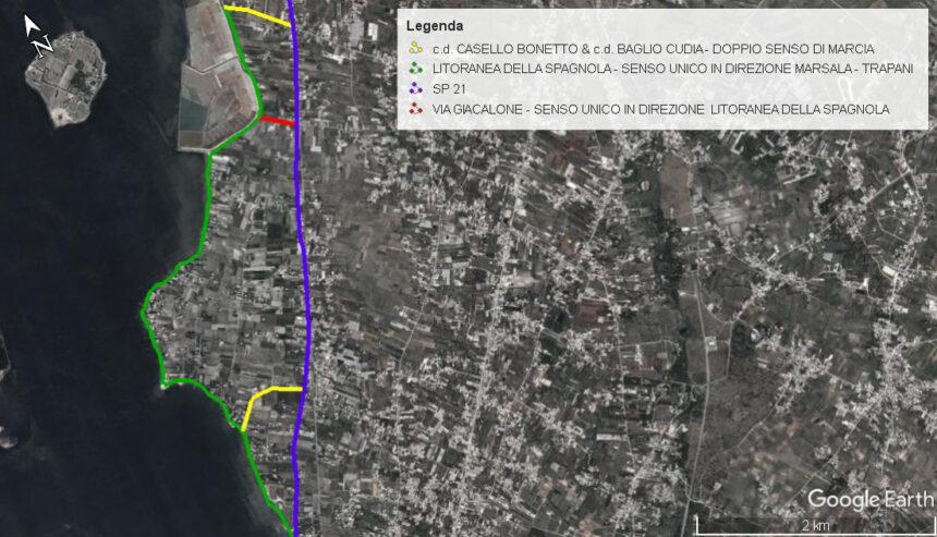 Pista ciclabile  lungo la laguna dello Stagnone, ecco la nuova ordinanza che ne regola la fruibilità