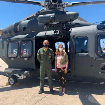 Valentina Palmeri (Attiva Sicilia) in visita all'82° Centro C.S.A.R. dell'aeronautica militare di Trapani