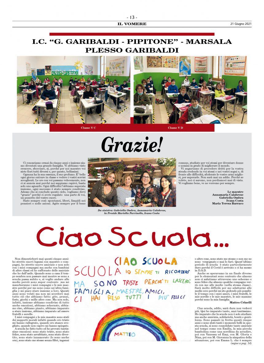 Ciao Scuola…
