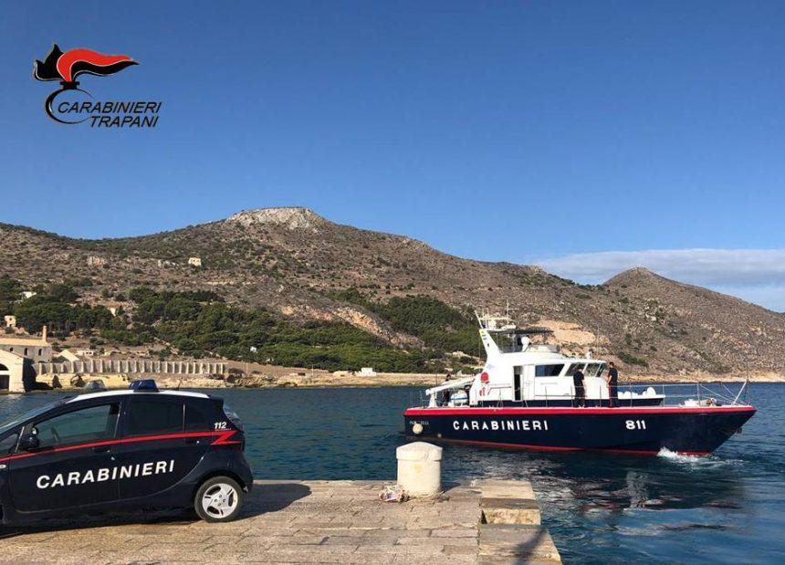 Favignana: servizio coordinato di controllo dei Carabinieri