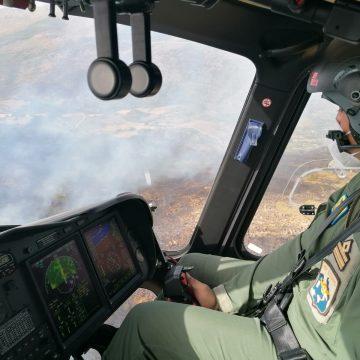 L'82° Centro C.S.A.R. dell'Aeronautica Militare interviene per spegnere un incendio al Bosco Vecchio
