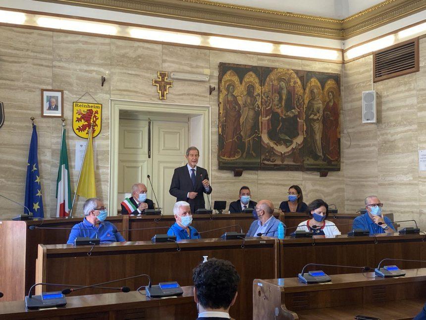 Licata, Musumeci in visita ufficiale: «La lotta al dissesto idrogeologico una priorità»
