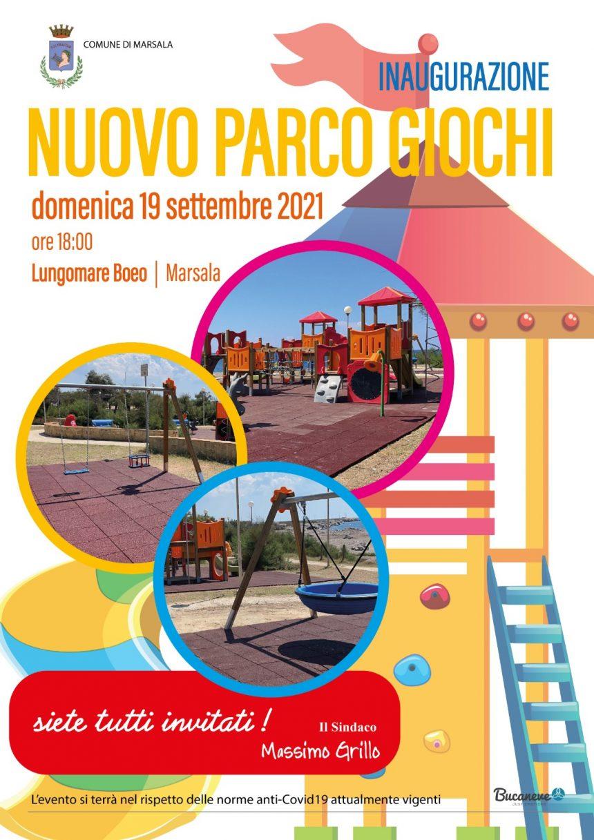 Marsala, nuovo parco giochi sul Lungomare. Domenica 19 l'inaugurazione