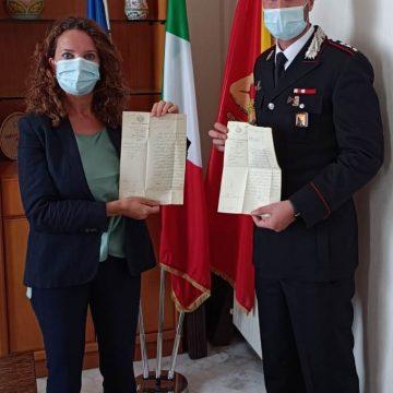 Calatafimi Segesta: riconsegnati al Comune dai Carabinieri documenti del 1863