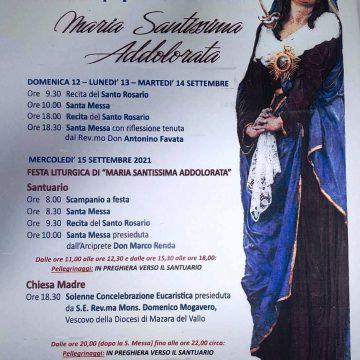 Marsala, il 15 settembre Festa liturgica Maria Santissima Addolorata