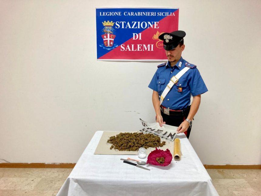 Salemi. I Carabinieri arrestano un 35enne: era in possesso di quasi mezzo chilo di marijuana