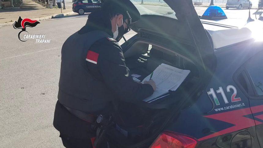 Trapani. Controlli del territorio dei Carabinieri: un uomo arrestato e tre denunciati